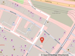 Unsere Position in OpenStreetmap